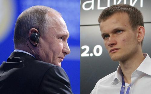 Картинки по запросу Путин с Бутериным эфириум